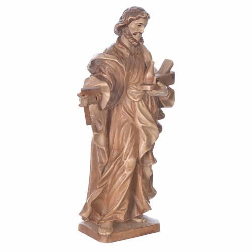 Saint Joseph the worker statue in multi-patinated Valgardena woo s3