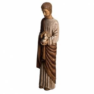 Saint Joseph with dove statue in wood, 60 cm s3
