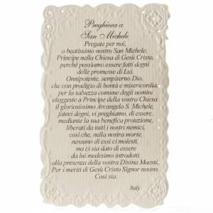Saint Michael archangel holy card with prayer s2
