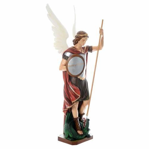 Saint Michel Archange fibre de verre peint 180cm s4