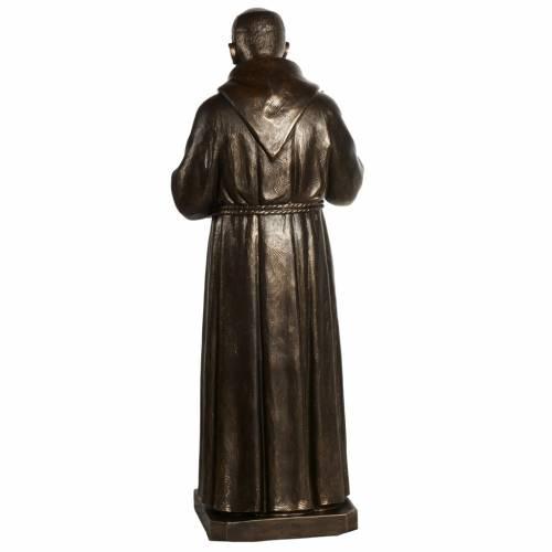 Saint Pio statue in fiberglass, bronze color 175 cm s13