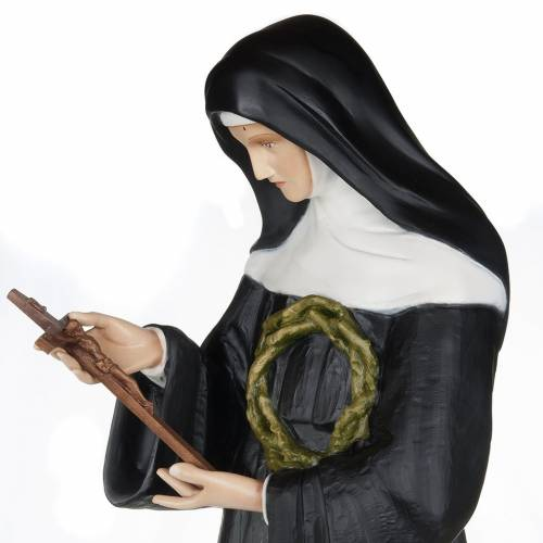 Saint Rita of Cascia statue, 100cm in painted reconstituted marb s3