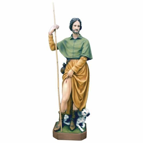Saint Roch, statue in painted fiberglass, 100cm s1