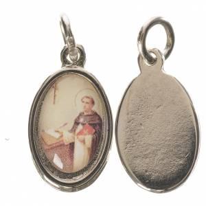 Saint Thomas medal in silver metal, 1.5cm s1