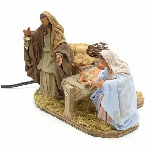 Sainte Famille animée crèche 12 cm s3
