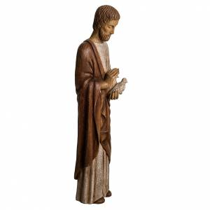San Giuseppe con colomba 60 cm legno dipinto Bethléem s2