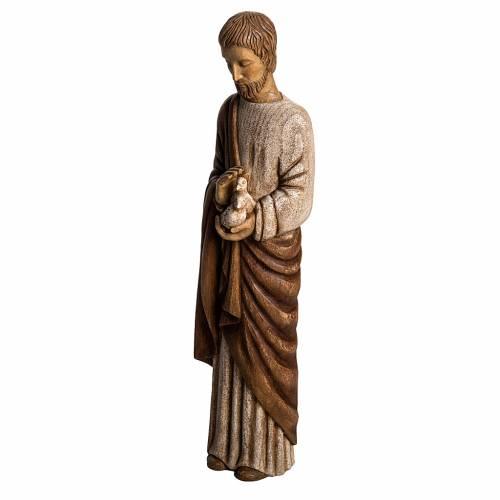 San Giuseppe con colomba 60 cm legno dipinto Bethléem s3