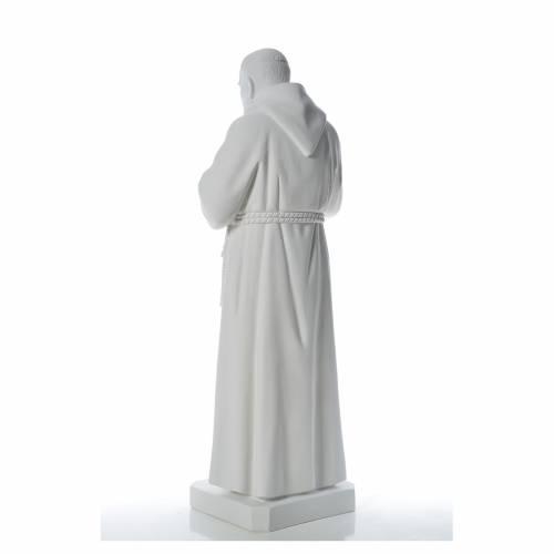 San Padre Pio 110cm polvo de mármol blanco s3