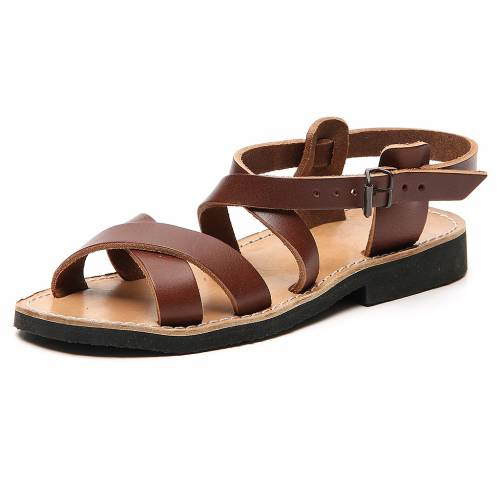 Sandales franciscaines mod. Sinaia cuir Moines de Bethléem s2