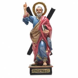 Sant'Andrea 12 cm con immaginetta PREGHIERA INGLESE s1
