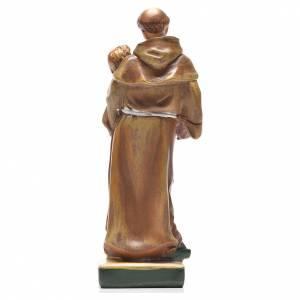 Sant'Antonio da Padova 12 cm con immaginetta PREGHIERA ITALIANO s2