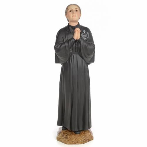 Santa Gemma Galgani 60 cm pasta di legno dec. elegante s1