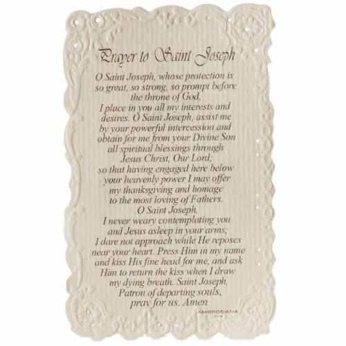 Santino Saint Joseph con preghiera (inglese) s2