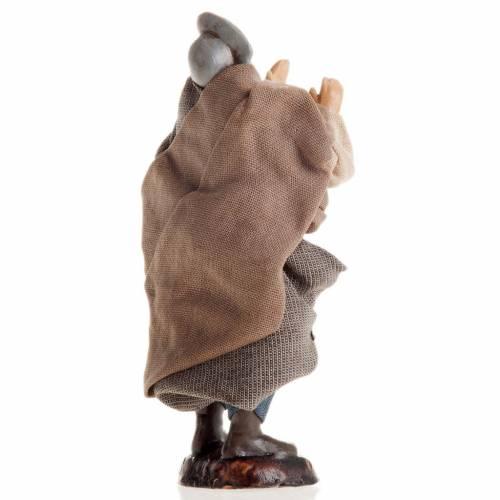 Santon crèche Napolitaine 8 cm homme qui souffle s2