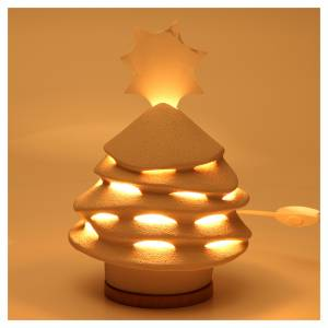 Sapin de Noël Céramiques Ave 38 cm argile illuminé s2