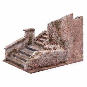 Scalinata presepe tipo roccia 15x15x25 cm s2