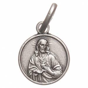 Scapolari: Scapolare medaglia Sacro Cuore argento 925 10 mm