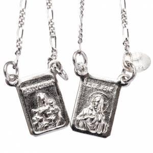 Scapulaire argent Notre-Dame et Jésus s1