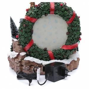 Scena natalizia con luci e treno in movimento 30x30x25 cm s5