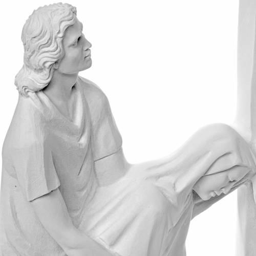 Scène de la Crucifixion en poudre de marbre s5