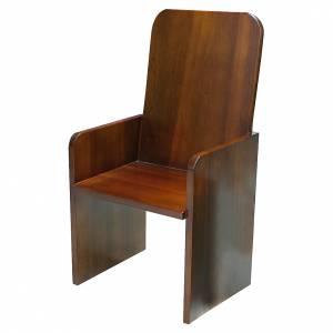 Sede moderna legno di noce s1