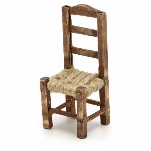 Sedia legno presepe fai da te h 4.5 cm s2