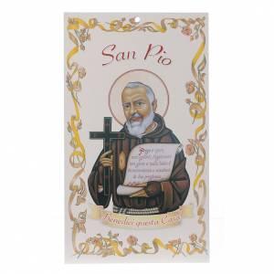 Aspergill, Weihwasserflaschen, Weihwasserkessel: Segnung der Häuser: Heiliger Pater Pius mit Gebet (100 Stk.)