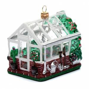 Serra (Greenhouse) addobbo vetro soffiato Albero Natale s1