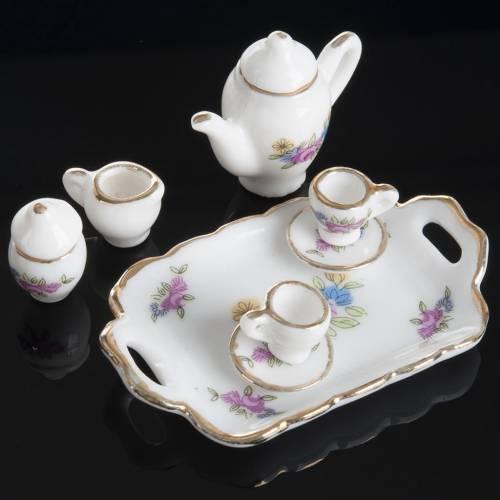 Service de café ou thé miniature crèche s2