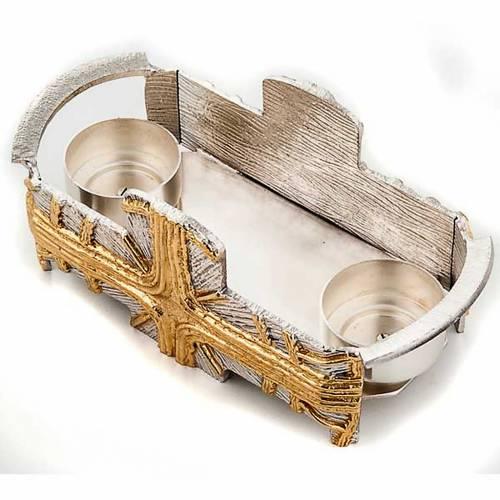 Servizio battesimo Croce oro e argento s5
