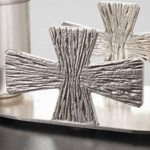 Servizio Battesimo ottone argentato croci s5