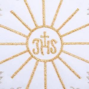 Servizio da messa 4pz. ricamato simbolo IHS s3