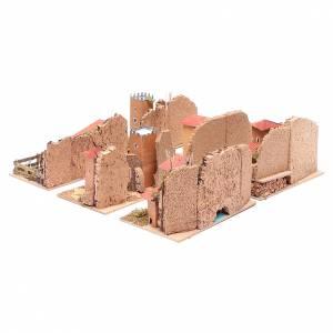 Settings, houses, workshops, wells: Set of 6 houses for nativity scene15x20x15 cm