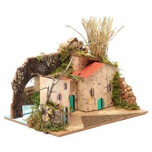 Setting for nativities with mirror measuring 15x20x14cm, assorted models s3