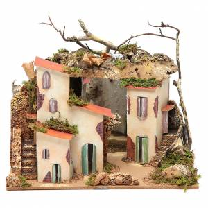 Setting for nativities with mirror measuring 23x24x21cm s1