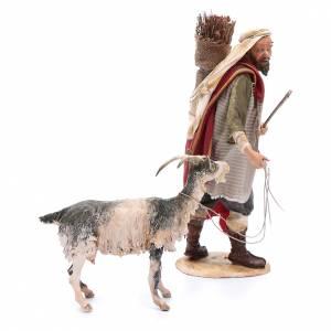 Shepherd with goat 30cm Angela Tripi s4
