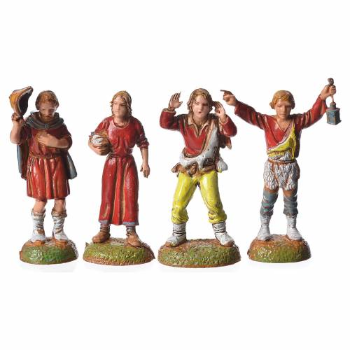 Shepherds, 24 nativity figurines, 6cm Moranduzzo s3