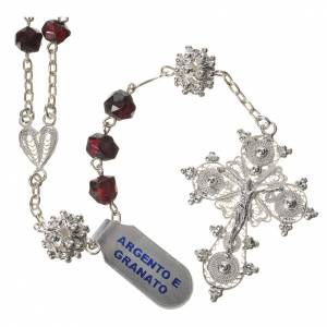 Silber Rosenkränze: Silber Rosenkranz und Granatperlen