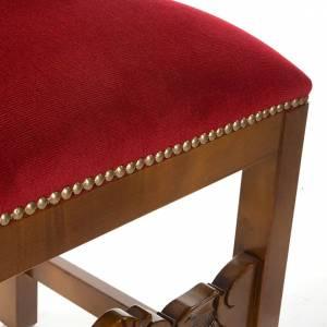 Ambones, reclinatorios, mobiliario religioso: Silla tipo barroco de terciopelo y madera de nogal