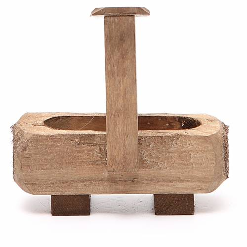 Small Fountain for nativity dark wood 8x5x8cm s3