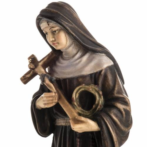 St Rita of Cascia wooden statue painted s3