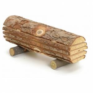 Moos, Stroh und Bäume für Krippe: Stamm abgeschnitten  für Selber-Bauen-Krippe