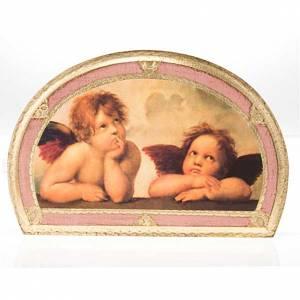 Stampa Angeli di Raffaello su legno s5