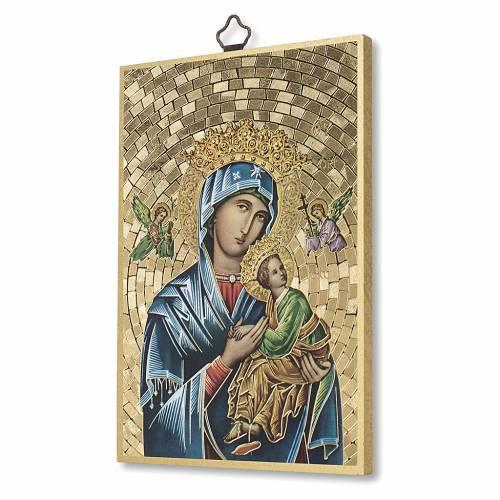 Stampa su legno Madonna del Perpetuo Soccorso Preghiera ITA s2