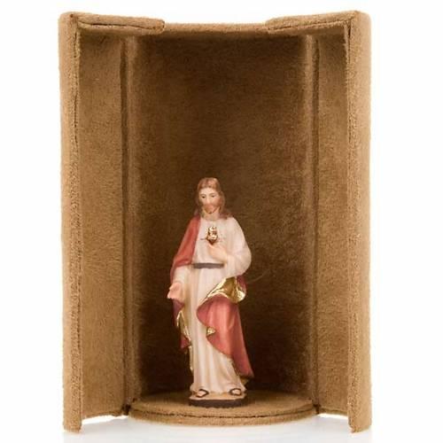 Statua bijoux Gesù e Santi con scatola nicchia s3