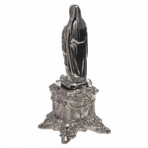 Statua ceramica platino Sacro Cuore Maria su tronetto s4