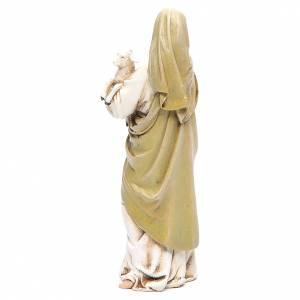 Statue in legno dipinto: Statua Madonna con Bambino pasta legno colorata 15 cm