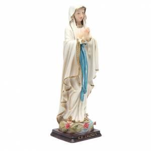 Statua Madonna di Lourdes 24,5 cm resina s3