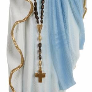 Statua Madonna Lourdes 70 cm polvere di marmo dipinta s3