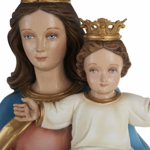 Statua Maria Regina con bambino 80cm marmo ricostituito colorato s2